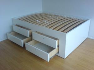 Doppelbett wei· mit UK SchubkÑsten 3