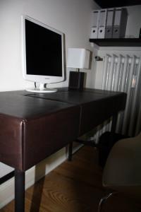 Lederbezogene Möbel