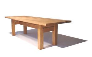 Tisch  mit H-Zarge. In Zusammenarbeit mit der Atelier Centrale.